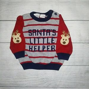 Adorable Christmas Sweater size 6m.